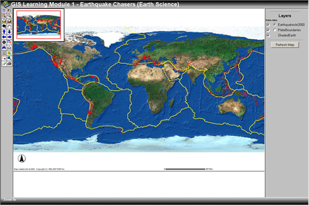 World Map Fault Lines
